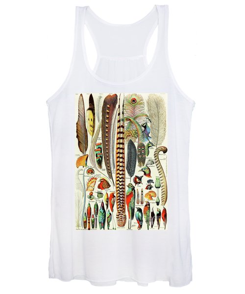 Illustration Of Feathers And Birds  Women's Tank Top
