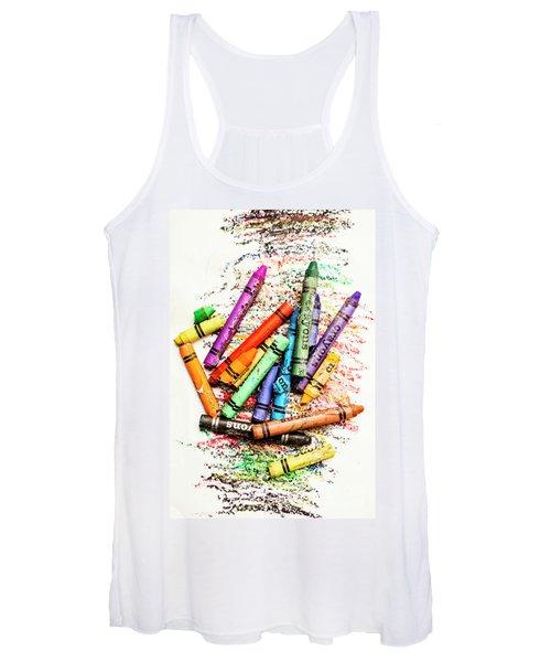 In Colours Of Broken Crayons Women's Tank Top