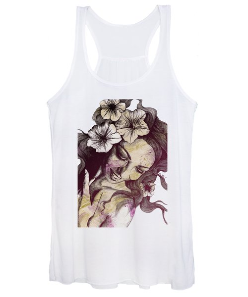 In The Year Of Our Lord - Wine - Smiling Lady With Petunias Women's Tank Top