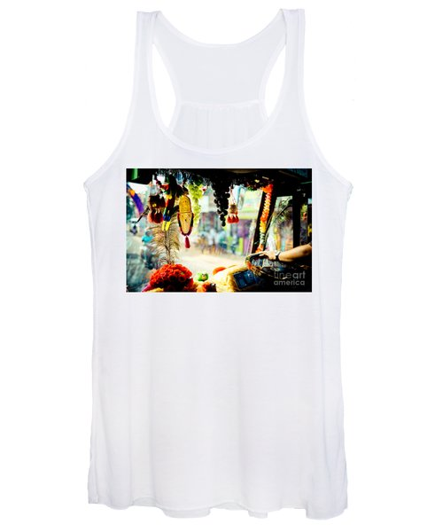 Indian Street From Window In The Bus Kerala India Women's Tank Top