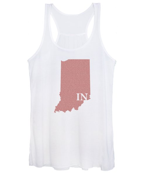 Indiana State Map With Text Of Constitution Women's Tank Top