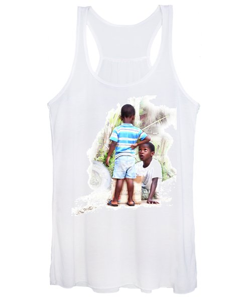 Indigenous Caribbean Kids In Panama Women's Tank Top