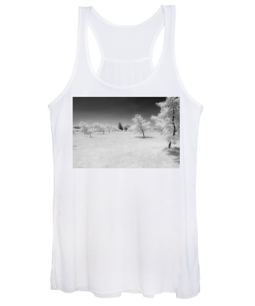 Infrared Peach Orchard Women's Tank Top