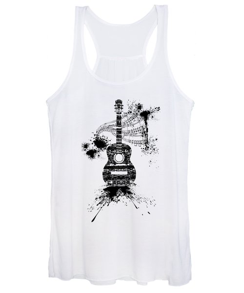 Inked Guitar Transparent Background Women's Tank Top