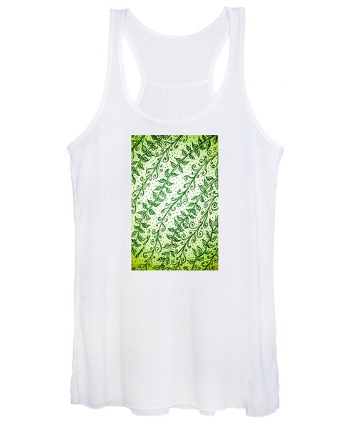 Into The Thick Of It, Green Women's Tank Top