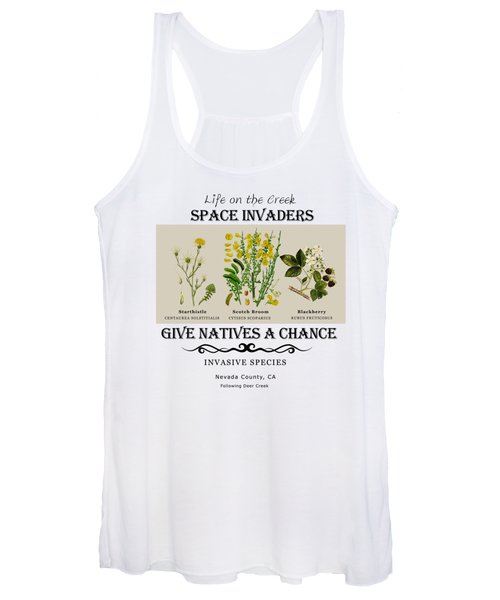 Invasive Species Nevada County, California Women's Tank Top