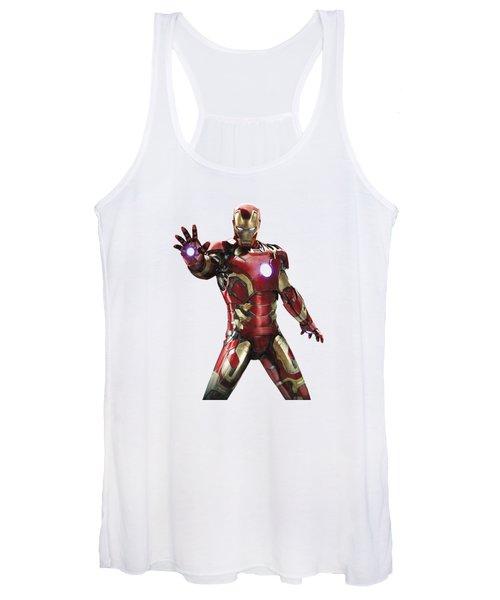 Iron Man Splash Super Hero Series Women's Tank Top