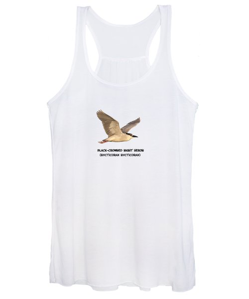 Isolated Black-crowned Night Heron 2017-6 Women's Tank Top