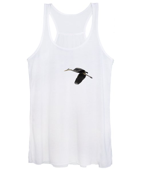Isolated Great Blue Heron 2015-1 Women's Tank Top