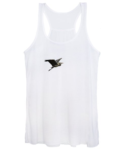 Isolated Great Blue Heron 2015-3 Women's Tank Top