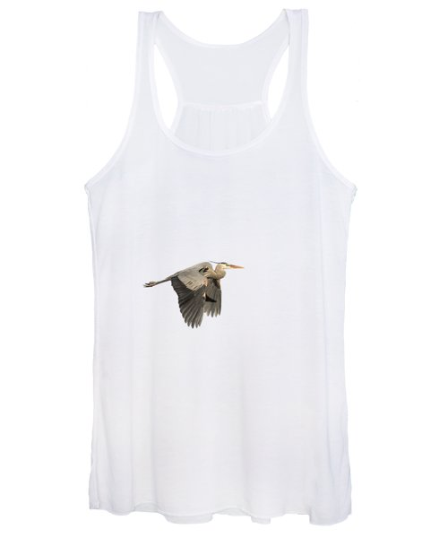 Isolated Great Blue Heron 2015-5 Women's Tank Top