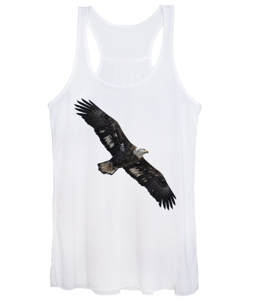 Isolated Juvenile American Bald Eagle 2016-1 Women's Tank Top