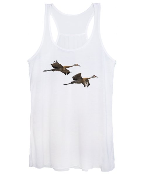 Isolated Sandhill Cranes 2016-1 Women's Tank Top