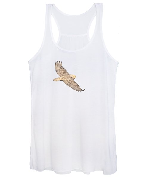 Isolated Snowy Owl 2018-1 Women's Tank Top