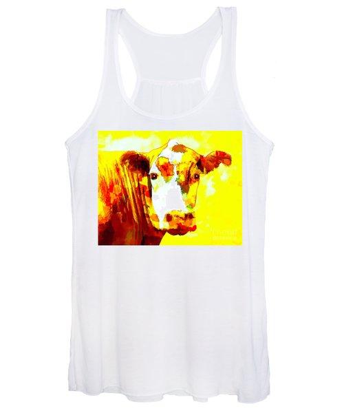 Yellow Cow Women's Tank Top