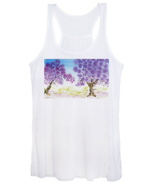 Jacaranda Trees Blooming In Buenos Aires, Argentina Women's Tank Top