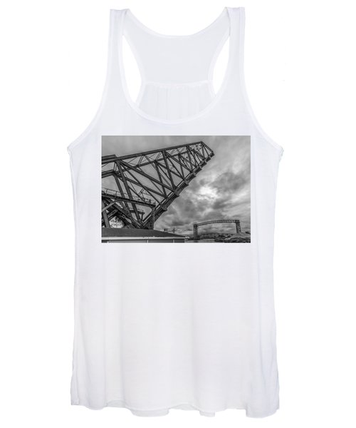 Jackknife Bridge To The Clouds B And W Women's Tank Top