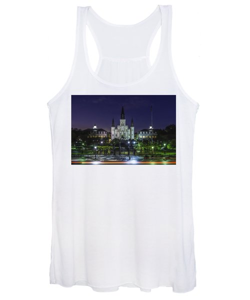 Jackson Square And St. Louis Cathedral At Dawn, New Orleans, Louisiana Women's Tank Top