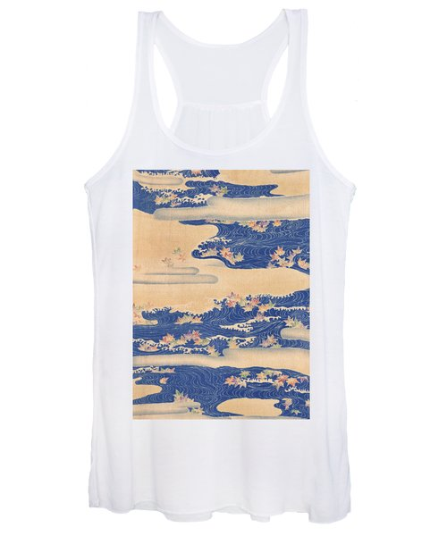 Japanese Style River And Cloud Modern Interior Art Painting. Women's Tank Top