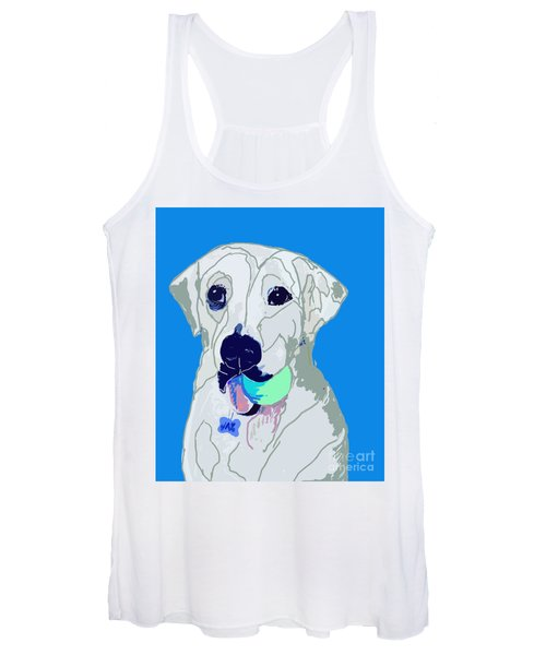Jax With Ball In Blue Women's Tank Top