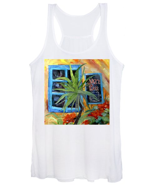 Jazz Bar In Santorini Women's Tank Top
