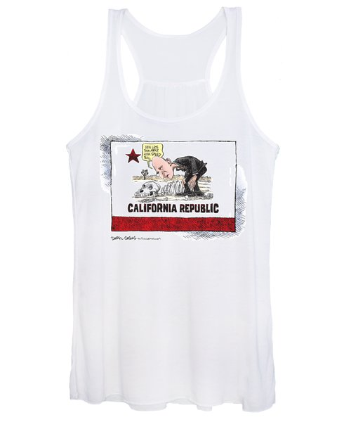 Jerry Brown - California Drought And High Speed Rail Women's Tank Top
