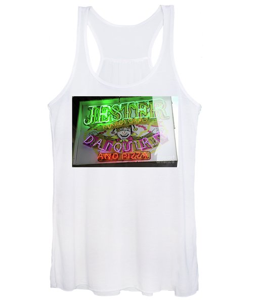 Jester Mardi Gras Sign Women's Tank Top