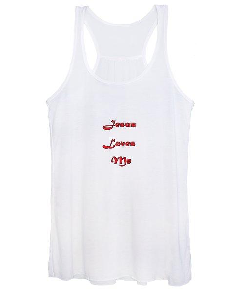 Jesus Loves Me Women's Tank Top