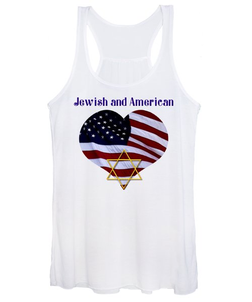 Jewish And American Flag With Star Of David Women's Tank Top