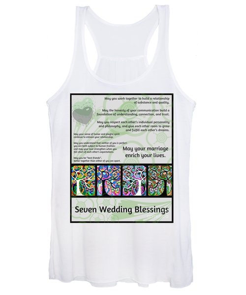 Jewish Seven Wedding Blessings Tree Of Life Hamsas Women's Tank Top
