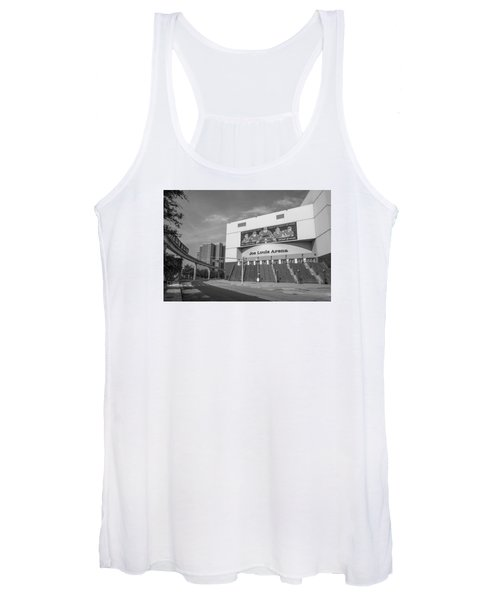 Joe Louis Arena Black And White  Women's Tank Top