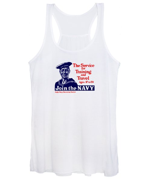 Join The Navy - The Service For Training And Travel Women's Tank Top