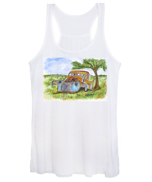 Junk Car And Tree Women's Tank Top
