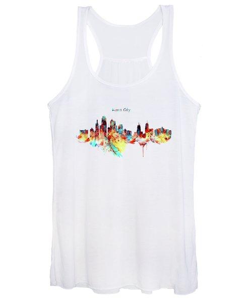 Kansas City Skyline Silhouette Women's Tank Top