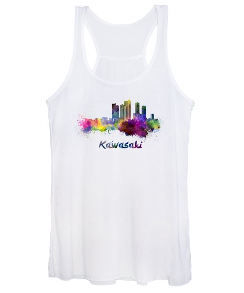 Kawasaki Skyline In Watercolor Women's Tank Top