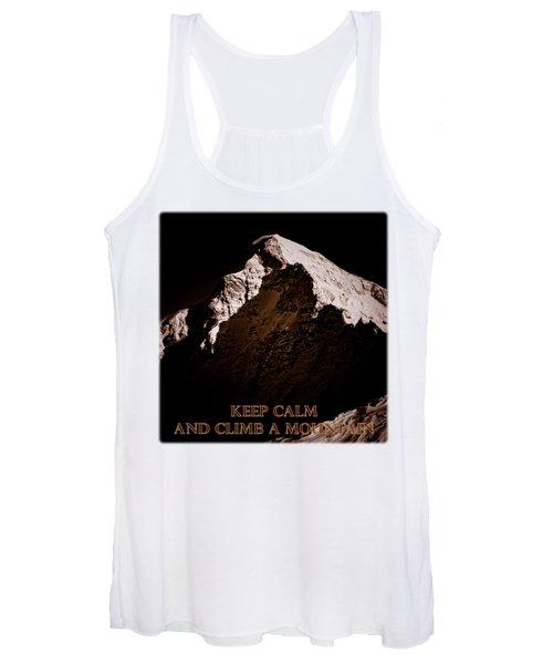 Keep Calm And Climb A Mountain Women's Tank Top