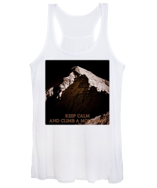 Keep Calm And Climb A Mountain Women's Tank Top