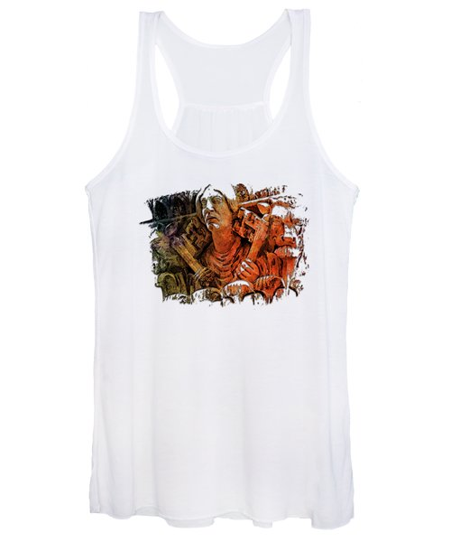 Keys To The City Earthy Rainbow 3 Dimensional Women's Tank Top