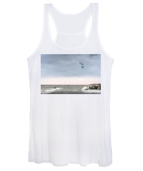 Kite Surfing On The Chesapeake Bay Women's Tank Top