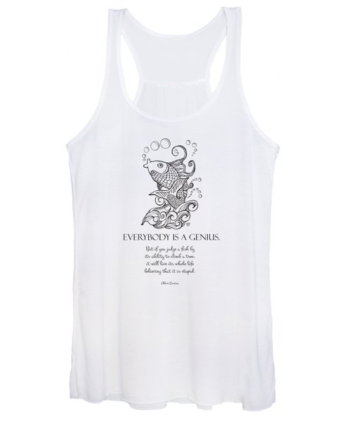 Koi - Everybody Is A Genius Bw Women's Tank Top