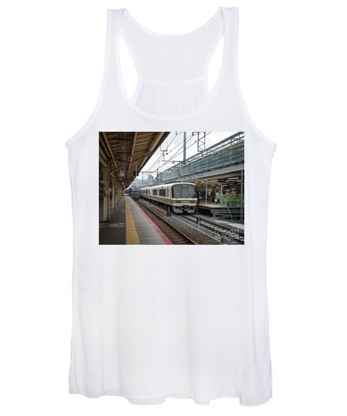 Women's Tank Top featuring the photograph Kyoto To Osaka Train Station, Japan by Perry Rodriguez
