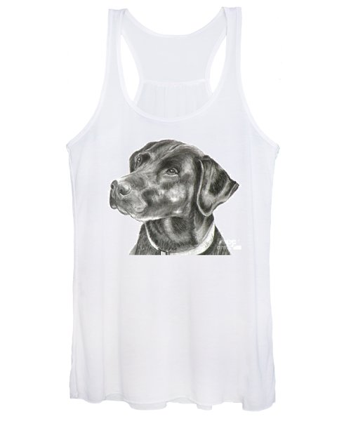 Lab Charcoal Drawing Women's Tank Top