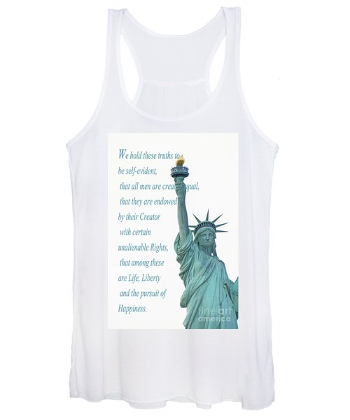Lady Liberty And Independence Women's Tank Top