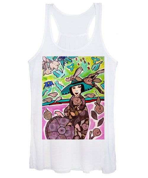 Lady Of The Birds Women's Tank Top