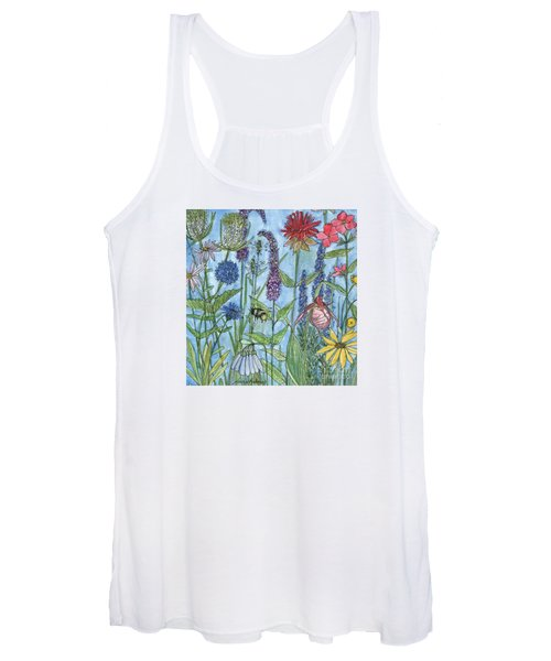 Lady Slipper In My Garden  Women's Tank Top