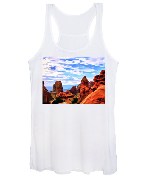 Land Of Moab - Watercolor Women's Tank Top