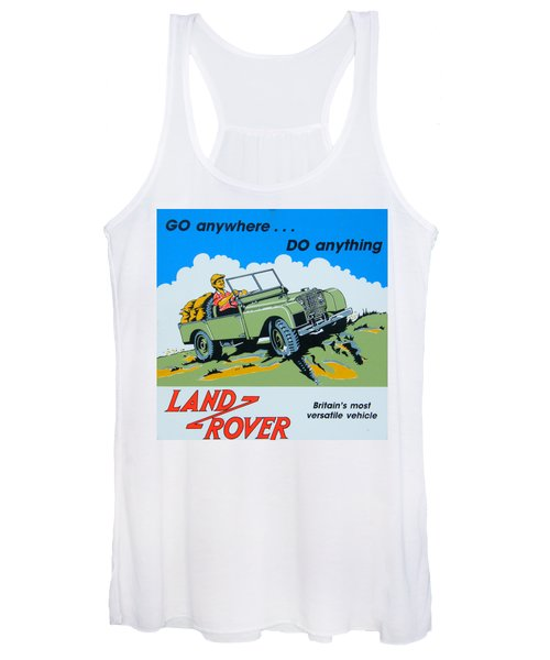 Landrover Advert - Go Anywhere.....do Anything Women's Tank Top