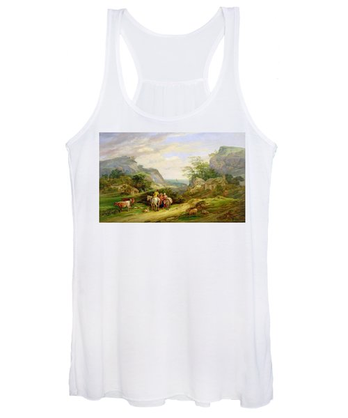 Landscape With Figures And Cattle Women's Tank Top