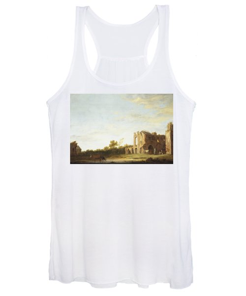 Landscape With The Ruins Of Rijnsburg Abbey Women's Tank Top
