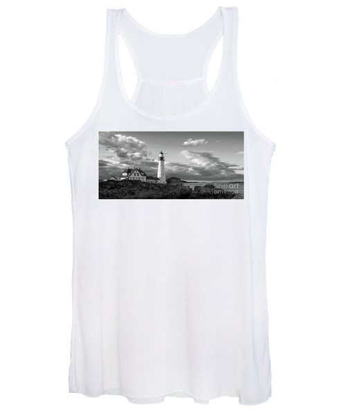 Late Afternoon Clouds, Portland Head Light  -98461 Women's Tank Top